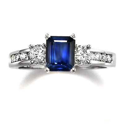 Anzor Jewelry 14k White Gold Shire Diamond Engagement Ring. Reese Ring  Emerald Cut ...
