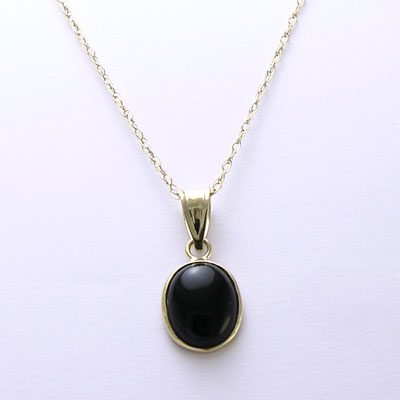 14k oro amarillo oval nice negro colgante y cadena de oro de 18 14k yellow gold oval black onyx pendant and 18 14k gold chain aloadofball Images