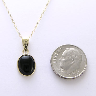 Anzor jewelry 14k yellow gold oval black onyx pendant and 18 14k gold oval black onyx pendant mozeypictures Gallery
