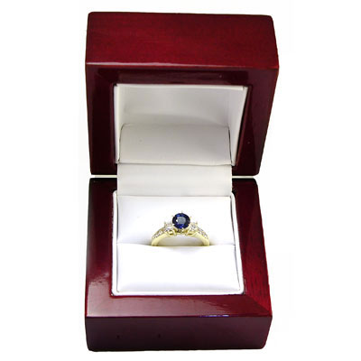 18k Gold Sapphire and Diamond Ring