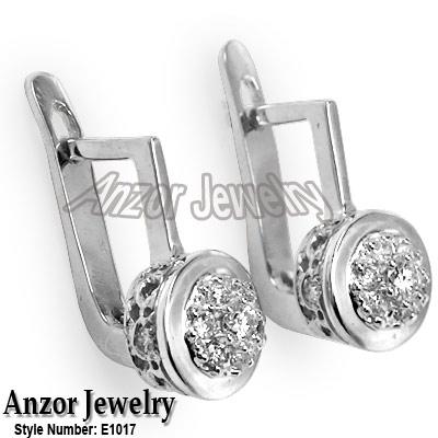 Russian style diamond malinka earrings in platinum 950 for Diamond stamp on jewelry