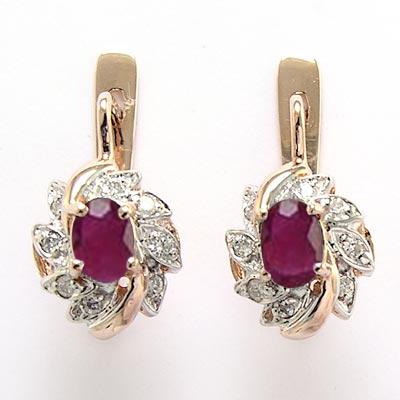 Anzor Jewelry 14k Rose Amp White Gold Diamond Ruby Russian
