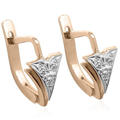Anzor Jewelry Children S Diamond Earrings Russian