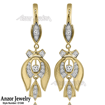 Anzor Jewelry 14k Solid Yellow And White Gold Genuine