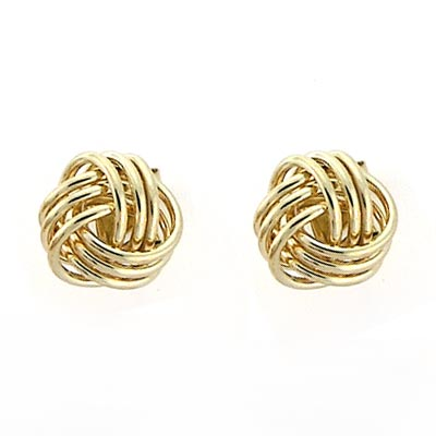 Gold Love Knot Stud Earrings 14k