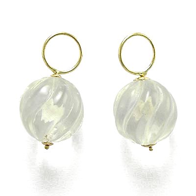 14k Gold Crystal Charms