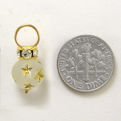 14k Gold Swarovski Charms