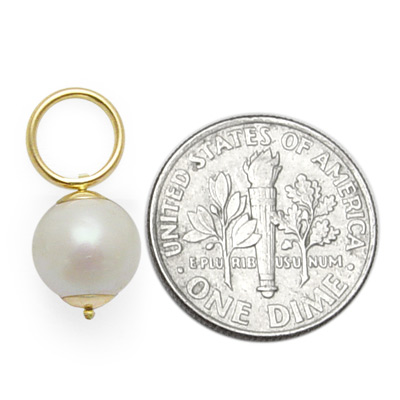 14k Gold Culture Pearl Earring Charms