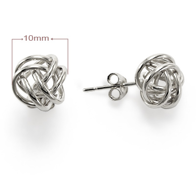 14k Solid Gold Love Knot earring