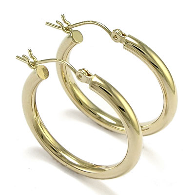 Clic 14k Gold Hoop Earrings