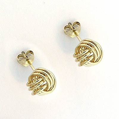 14k Gold Love Knot earring (Solid) 14k