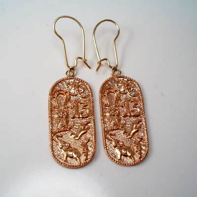 14k Rose Gold Lucky Items Earrings