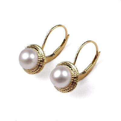 Gold pearl earrings australia