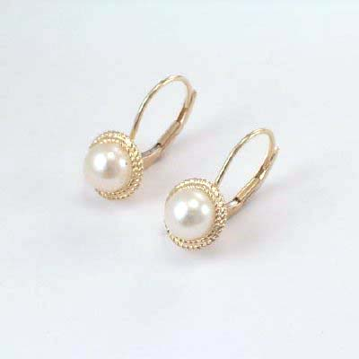 14k Gold 5.5mm Pearl Earrings