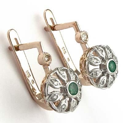 Russian Style Diamond Earrings 585