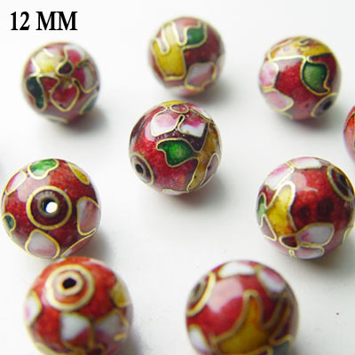 Lot 100 Cloisonne Enamel Beads