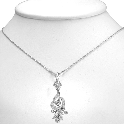 Russian Style Diamond Pendant in 14k 585