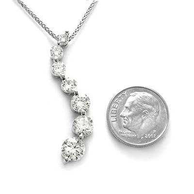 Anzor jewelry 14k white gold white sapphire journey pendant 285 14k white gold journey white sapphire pendant aloadofball Gallery