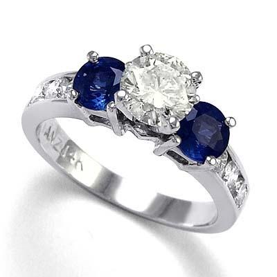 anzor jewelry 14k gold blue sapphire white sapphire