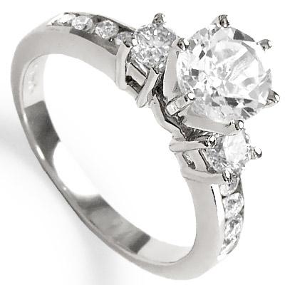 14k Gold Topaz Diamond Ring