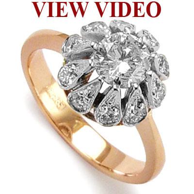 anzor jewelry   14k rose pink amp white gold genuine