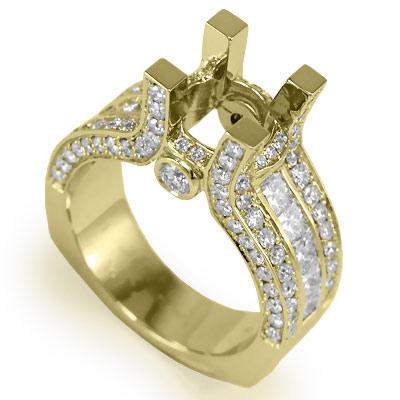 18k Semi Mount Diamond Engagement Ring Setting