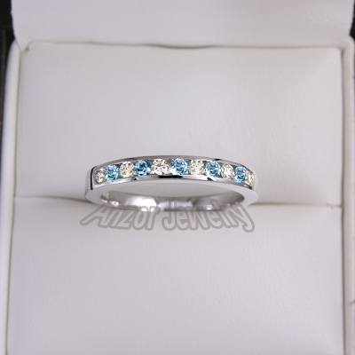 eternity band il half aquamarine pave listing bands rose gold