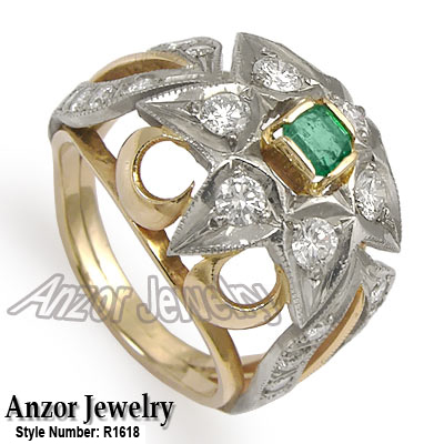 Anzor Jewelry 100 cwt Russian Jewelry 18K Solid Rose White Gold