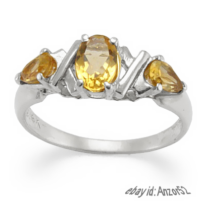 14k Gold Citrine Ring 0.82ct.