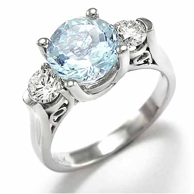 anzor jewelry 14k white gold aquamarine diamond. Black Bedroom Furniture Sets. Home Design Ideas