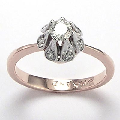 Anzor Jewelry Russian Style Diamond Engagement Ring Ring