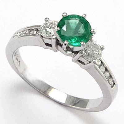 anzor jewelry 14k gold emerald engagement ring 0