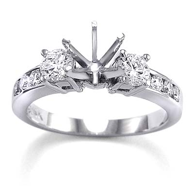 14k White Gold Diamond Ring Setting