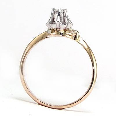 Russian Style decorative Diamond Ring 585