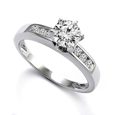 anzor jewelry 18k white gold solitaire