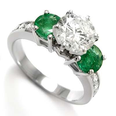 anzor jewelry 14k white gold emerald engagement
