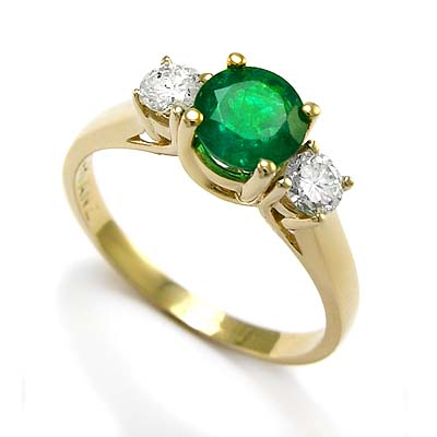 anzor jewelry 14k yellow gold emerald