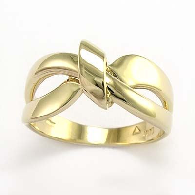 anzor jewelry 10k solid yellow gold ribbon design ring