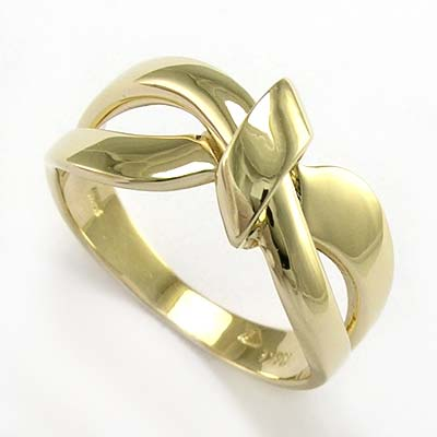 anzor jewelry 14k gold ribbon design ring