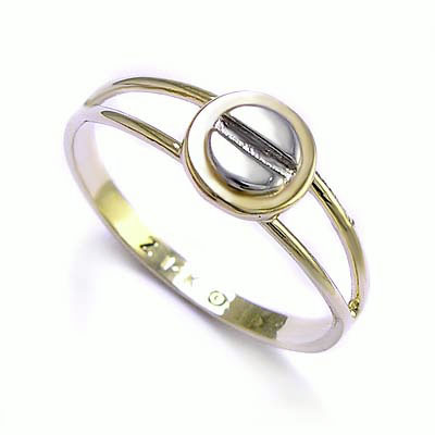 14K Two Tone Gold  Design Ring