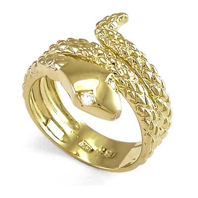 Mens Snake Wrap Ring
