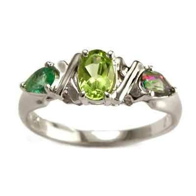 anzor jewelry 14k white gold ring peridot emerald