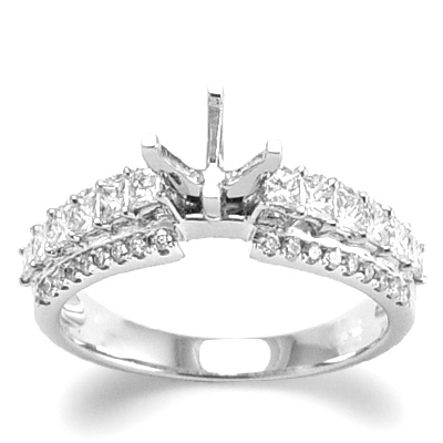 18k White Gold Ring Diamond Setting