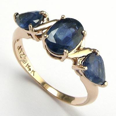 genuine sapphire solid item blue dark classic silver natural ring