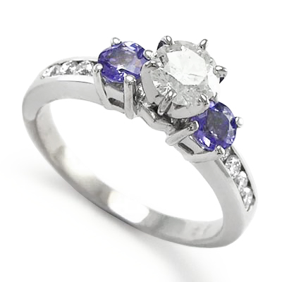engagement item natural real for from fancy rings in wedding halo women jewelry ring gold shape white tanzanite pear