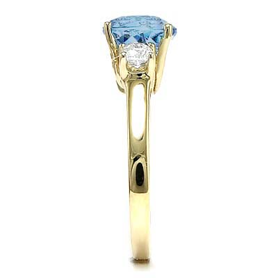 14k Gold Topaz Diamond Ring