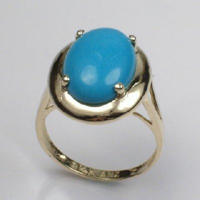 14k Gold Turquoise Ring