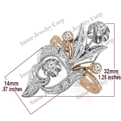 Russian Style Diamond Ring Earrings Pendant 585