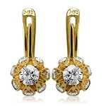 Russian Style Diamond Earrings 14k