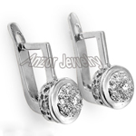 old Russian style Diamond Malinka Earrings  585